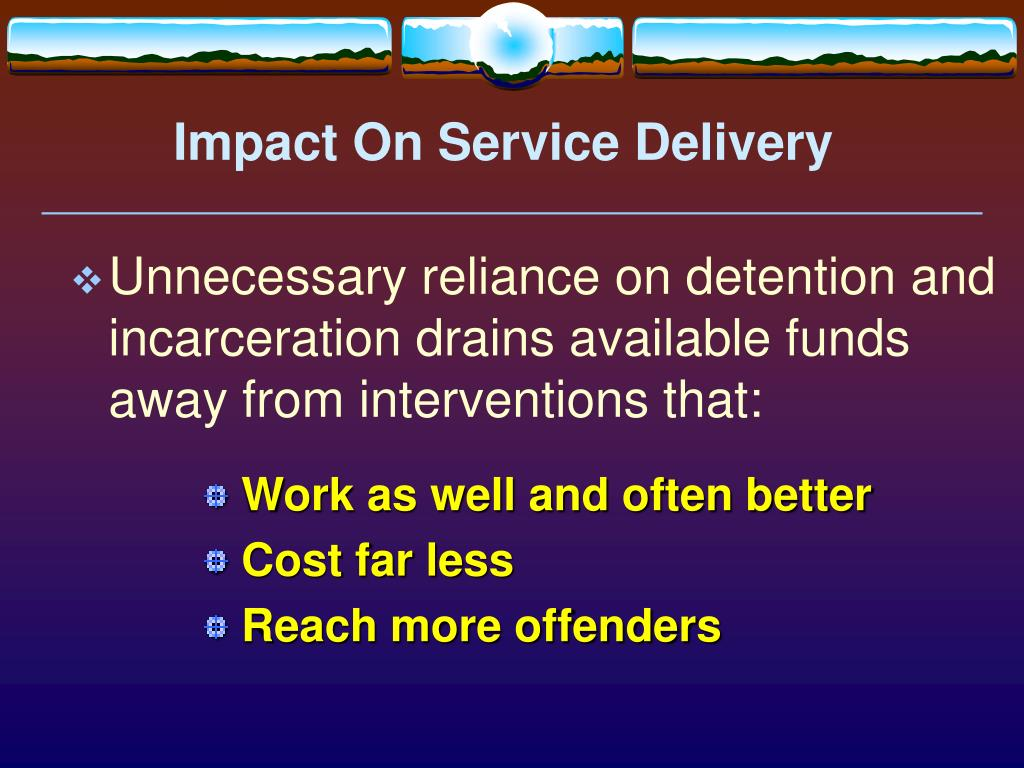 Impact On Service Delivery