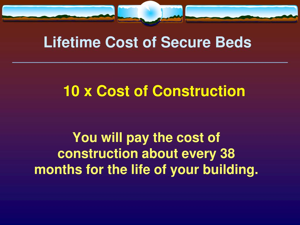 Lifetime Cost of Secure Beds