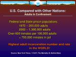 u s compared with other nations adults in confinement