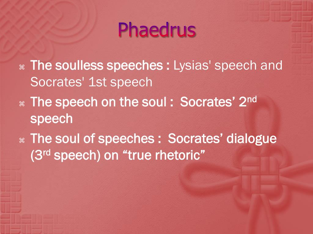 the similarities and differences in the symposium and the phaedrus by plato This foundation was laid out by plato through the conversation of socrates in the  symposium and the phaedrus each of these works is a different expression of.