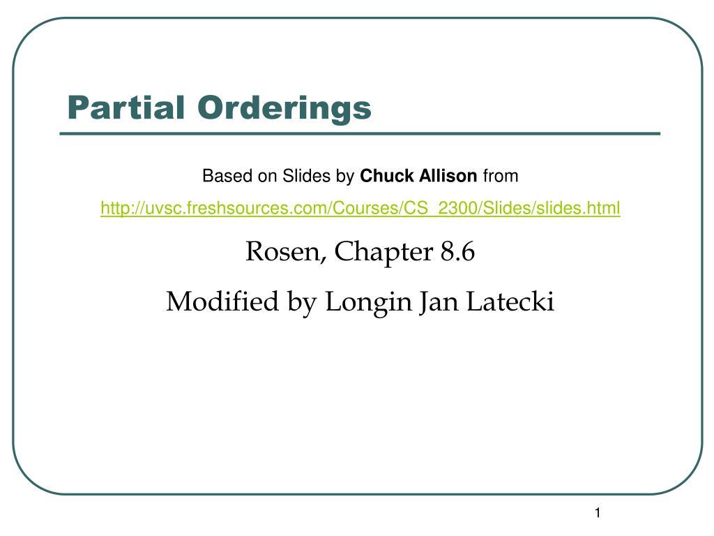 partial orderings
