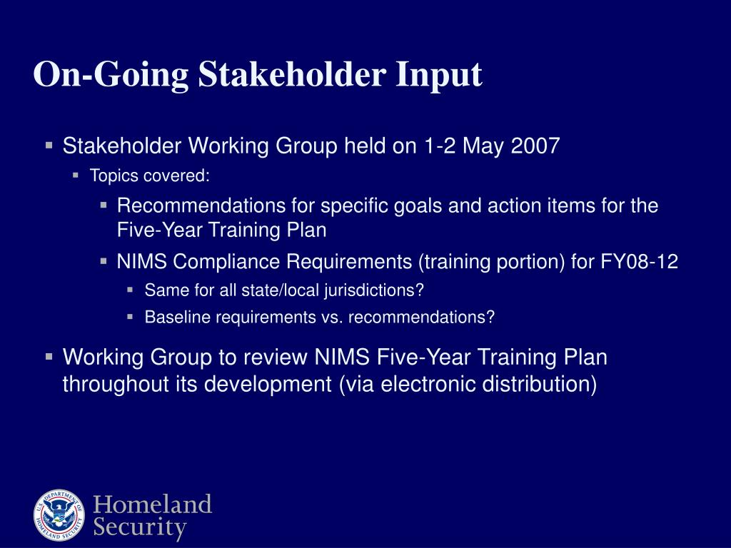 Stakeholder Working Group held on 1-2 May 2007