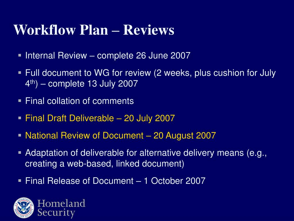 Internal Review – complete 26 June 2007