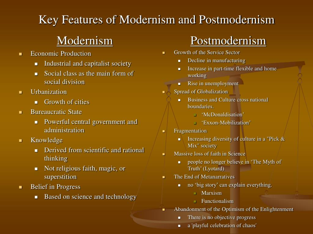 from enlightenment to postmodernism essay Read this essay on postmodernism the final point in question is as to whether the enlightenment project is still viable and whether we can still hope to.