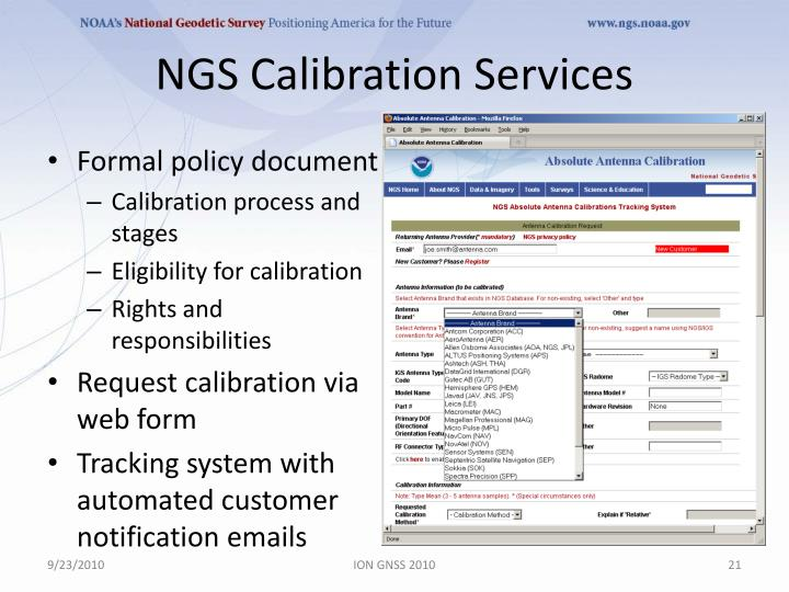 NGS Calibration Services