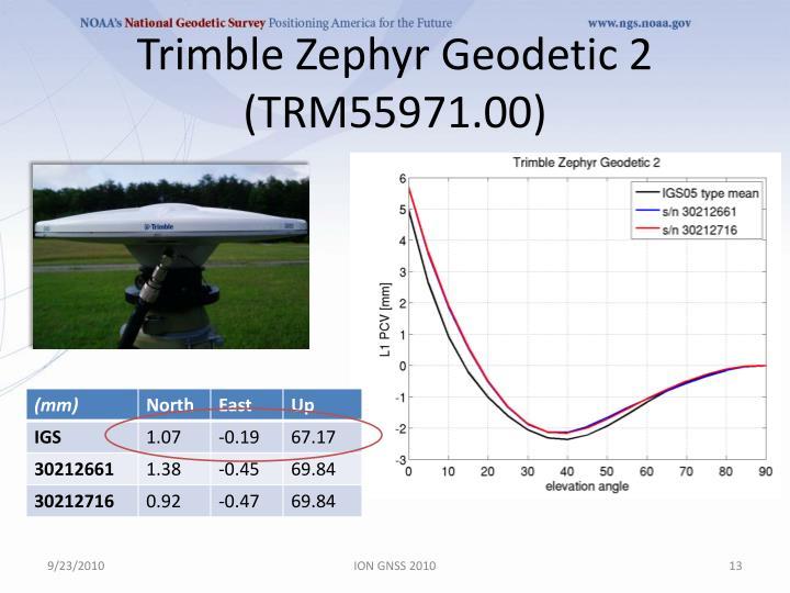 Trimble Zephyr Geodetic 2