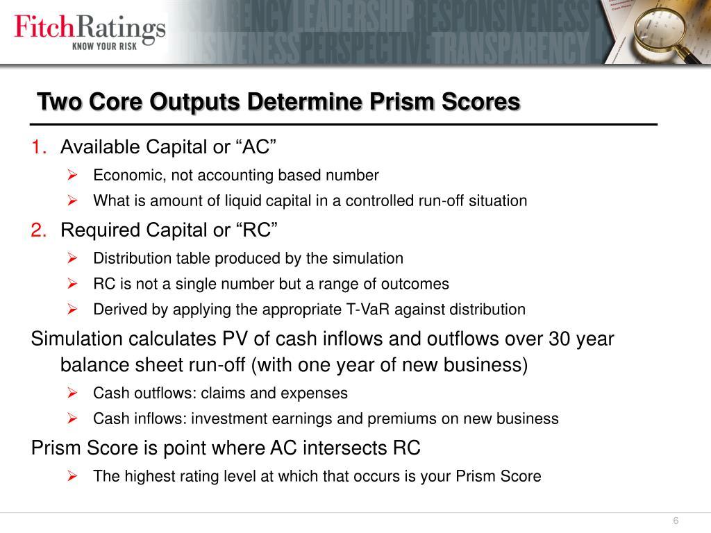 Two Core Outputs Determine Prism Scores