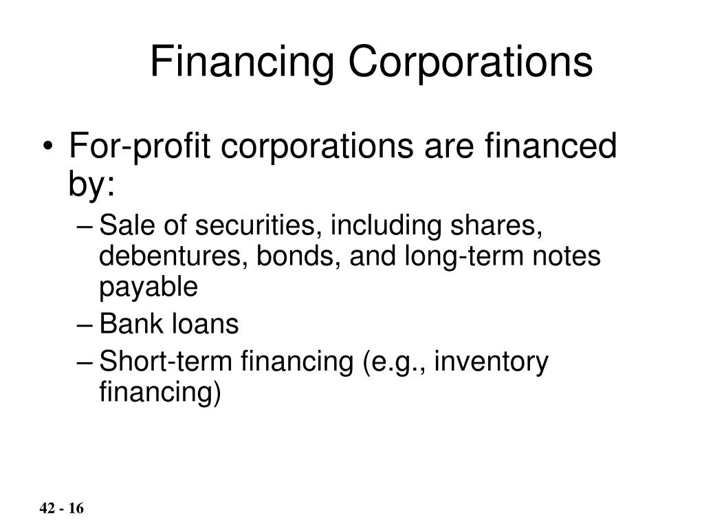 Financing Corporations