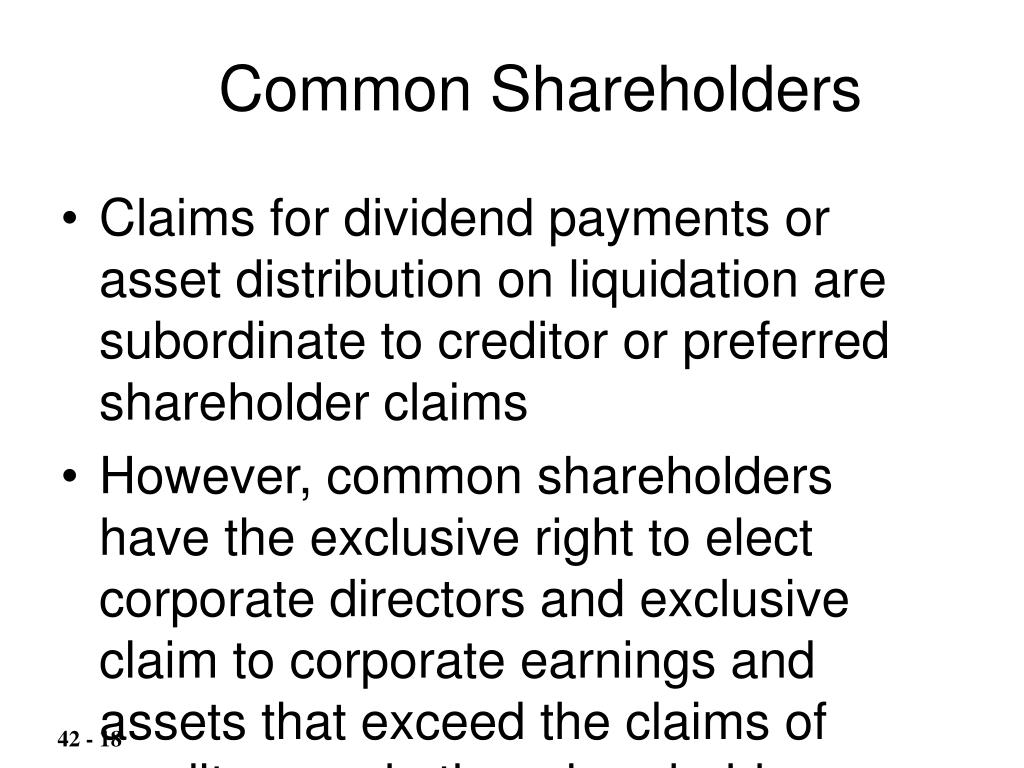 Common Shareholders