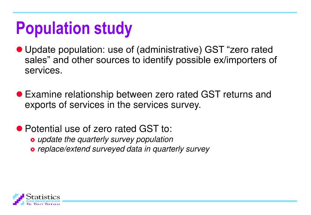 Population study