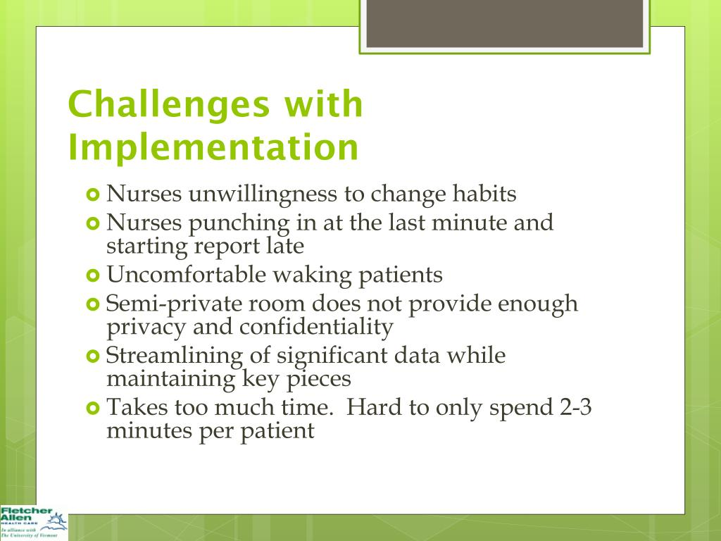 barriers or challenges in the implementation of nursing theory Ladder programs and their barriers and facilitators to implementation marie k jordan mha, bsn, rn, ne-bc  kanter's theory of structural empowerment is  researcher with nursing turnover and staffing challenges weaknesses (continued.
