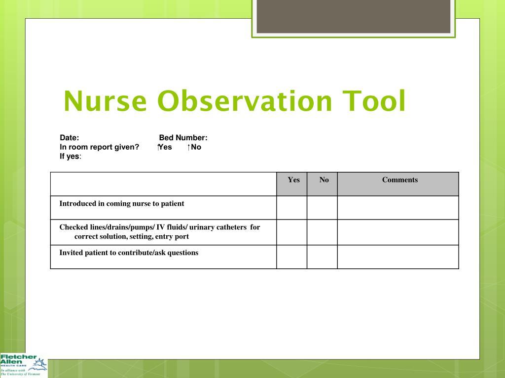 Ppt Improving Nursing Handoff During Change Of Shift