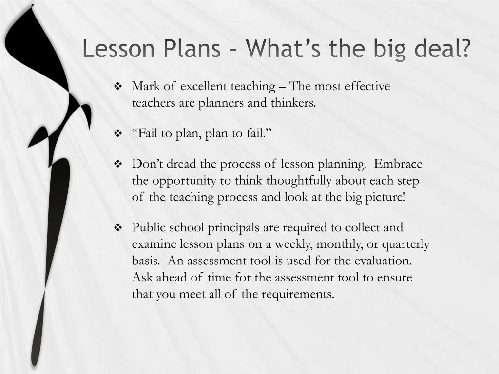 Lesson Plans – What's the big deal?