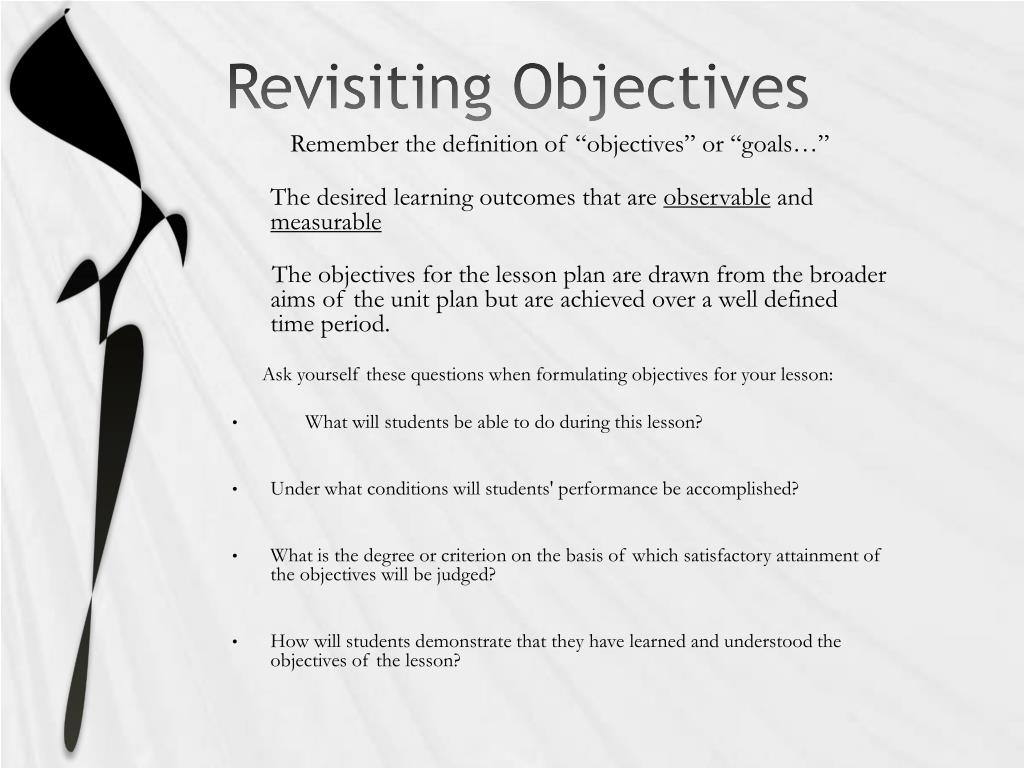 Revisiting Objectives