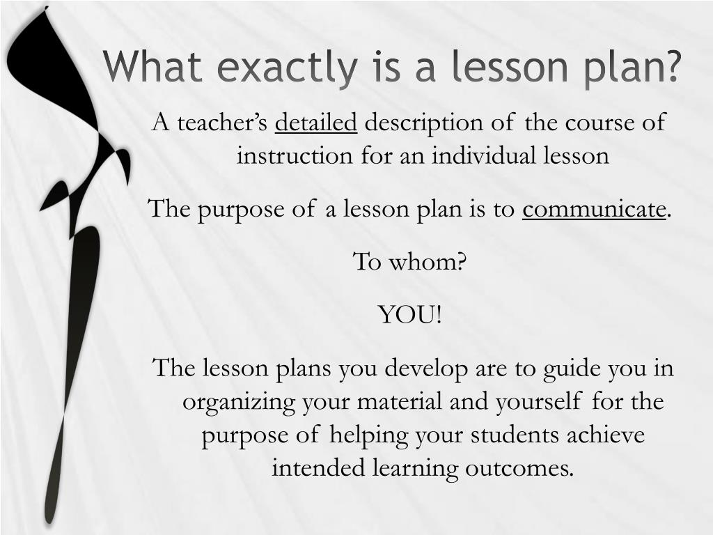 What exactly is a lesson plan?