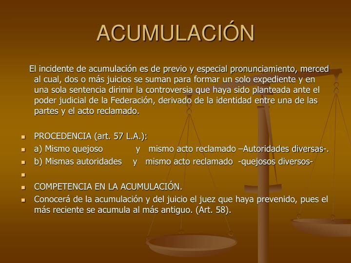 ACUMULACIN