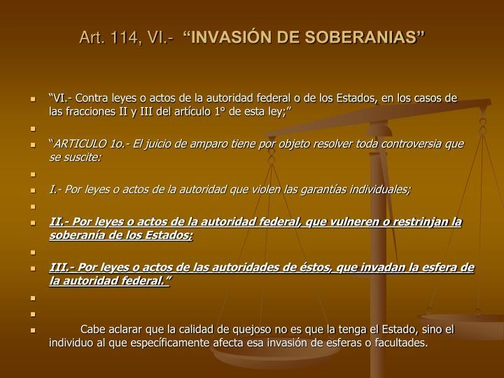Art. 114, VI.-