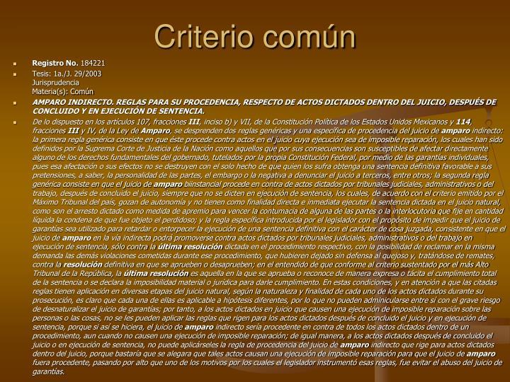 Criterio comn