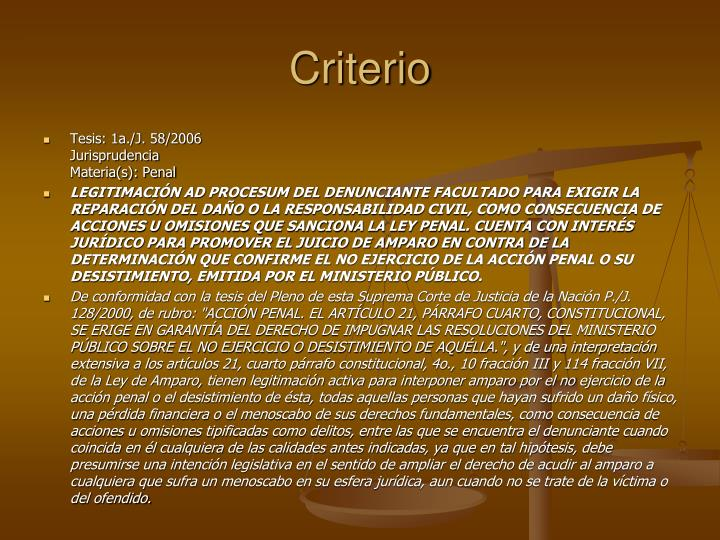 Criterio