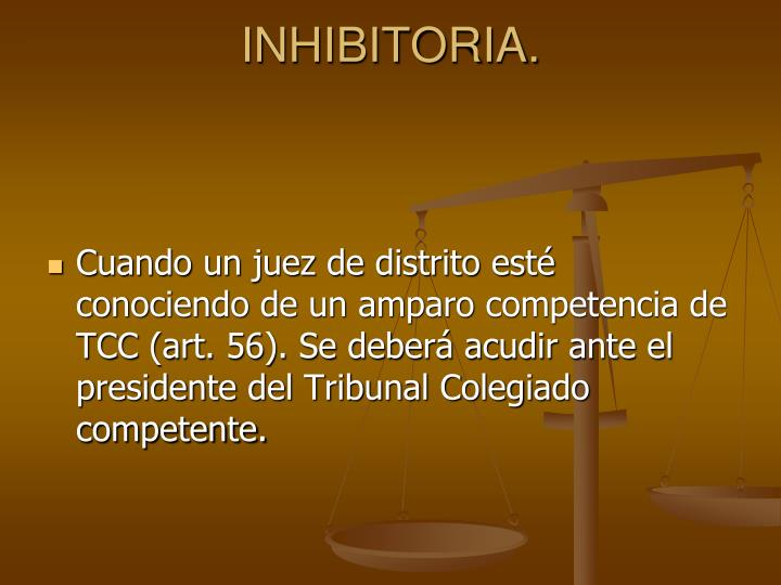 INHIBITORIA.
