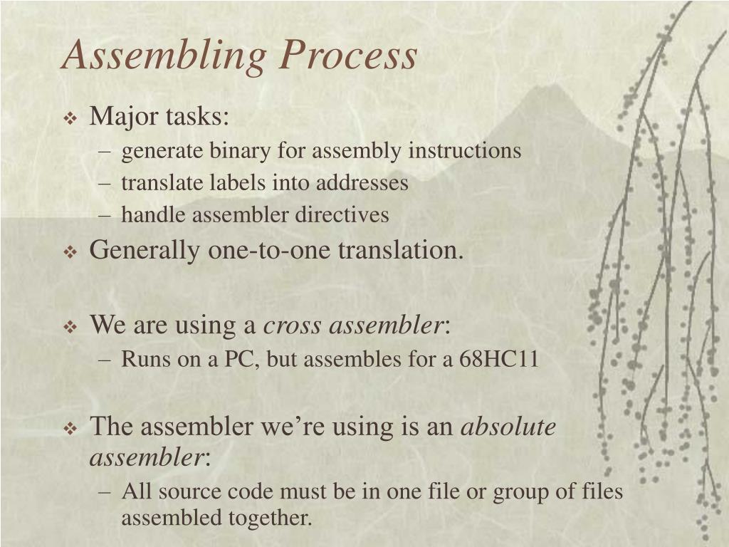 Assembling Process