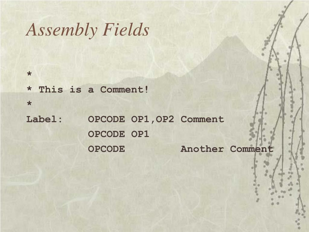 Assembly Fields