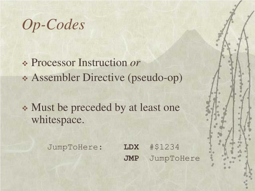 Op-Codes