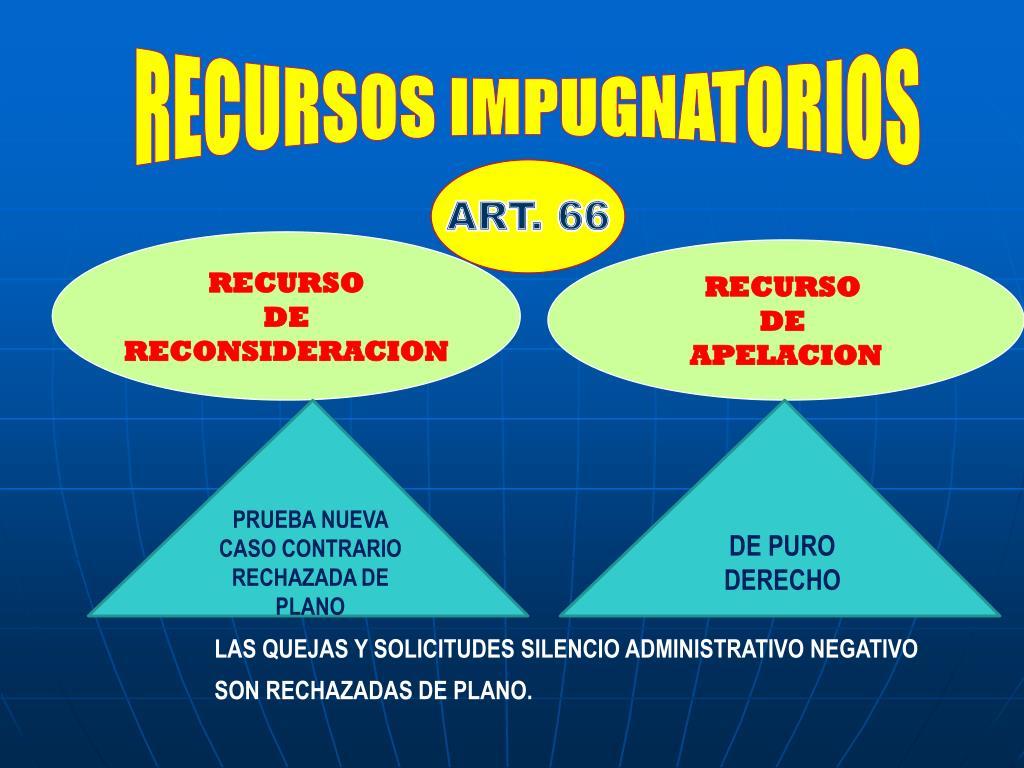 RECURSOS IMPUGNATORIOS