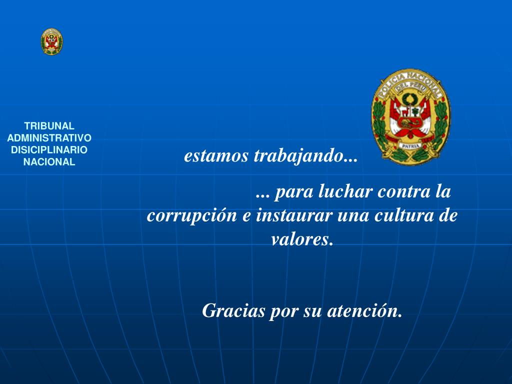 TRIBUNAL ADMINISTRATIVO DISICIPLINARIO NACIONAL