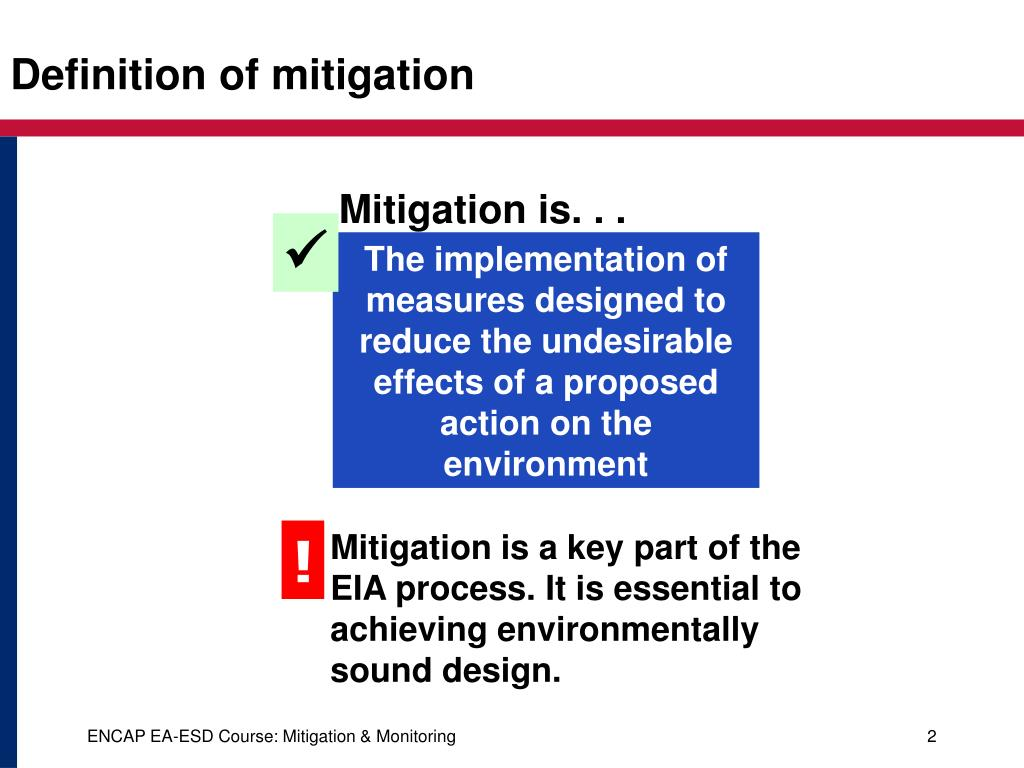 Ppt environmental mitigation and monitoring powerpoint for Ea definition