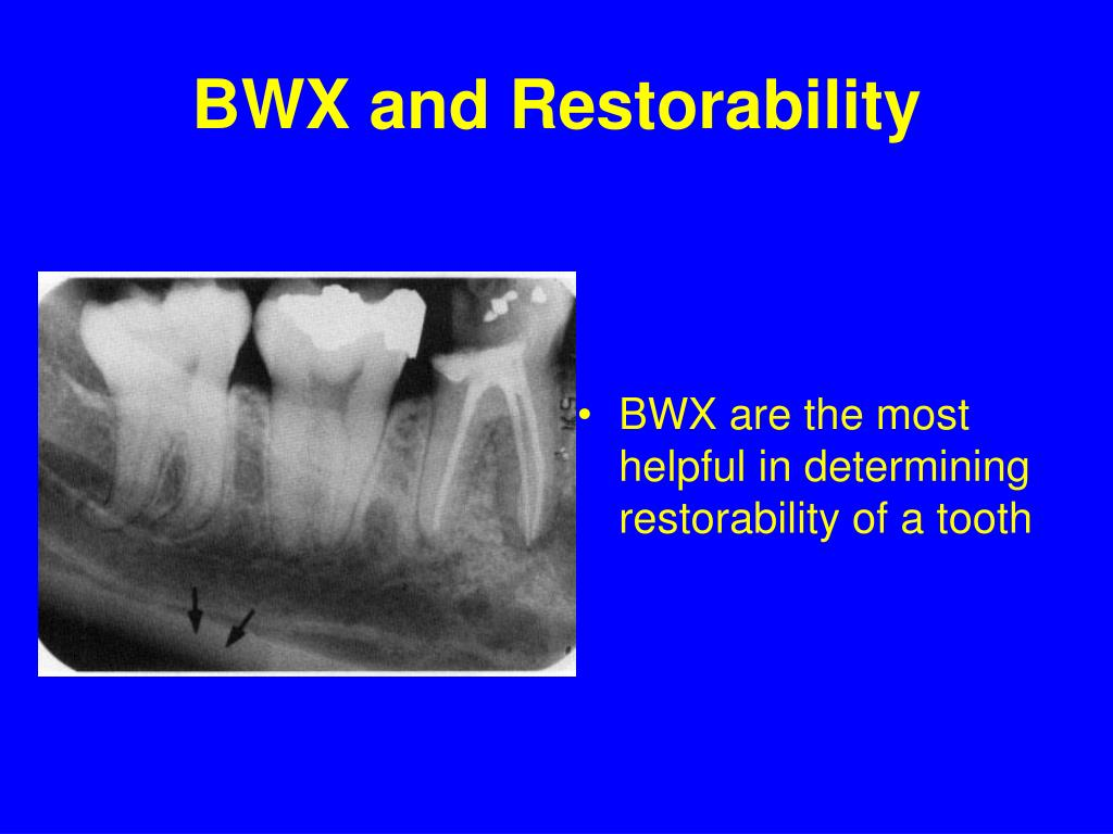 BWX and Restorability