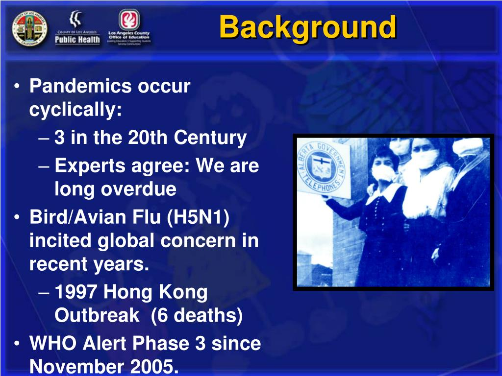 Pandemics occur cyclically: