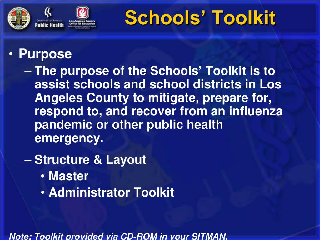 Schools' Toolkit