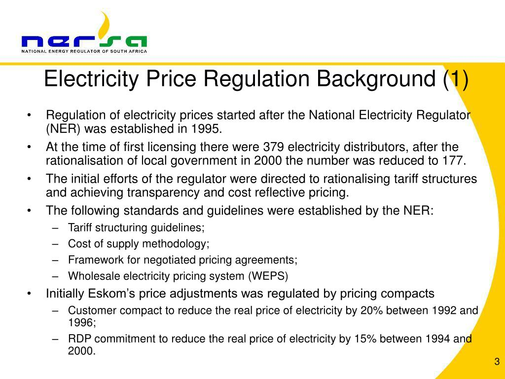 Electricity Price Regulation Background (1)