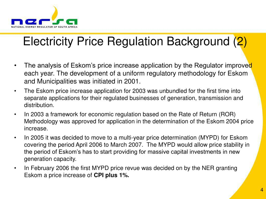 Electricity Price Regulation Background (2)