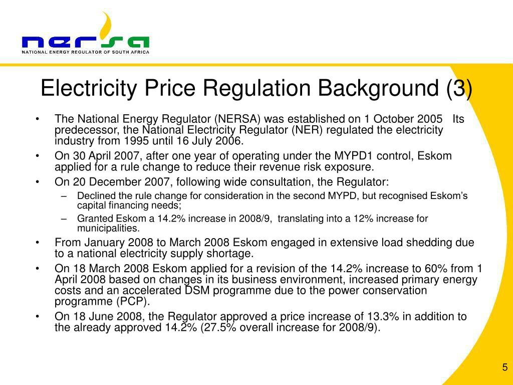 Electricity Price Regulation Background (3)