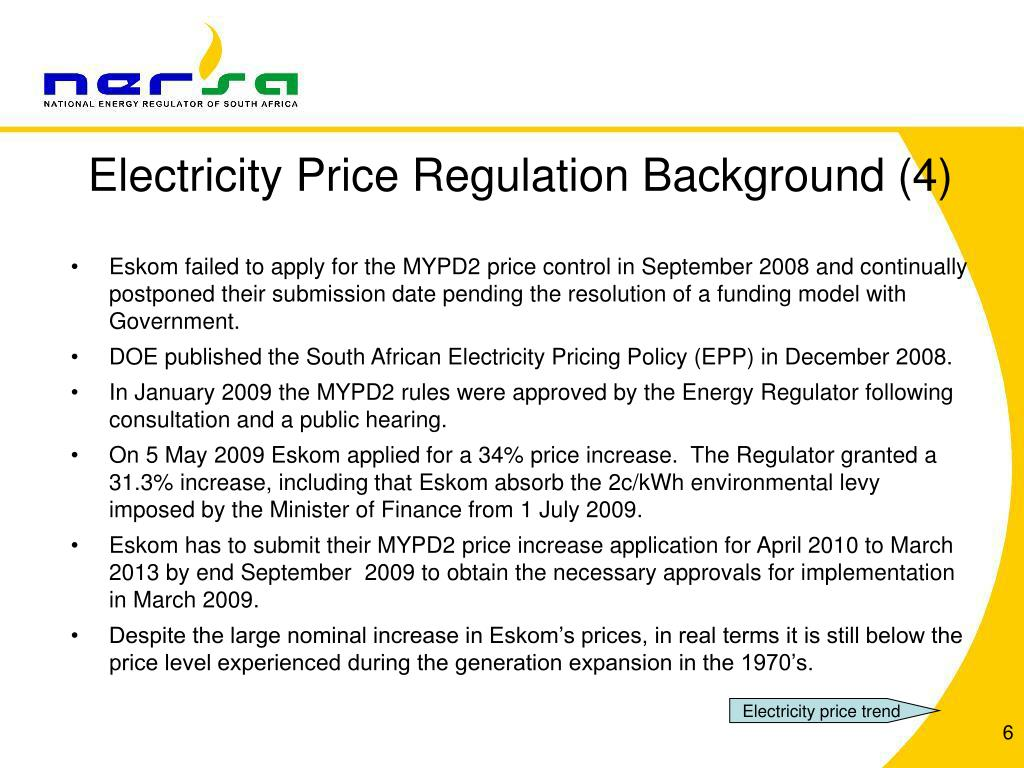 Electricity Price Regulation Background (4)