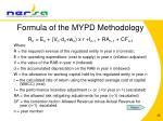 formula of the mypd methodology