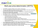multi year price determination mypd