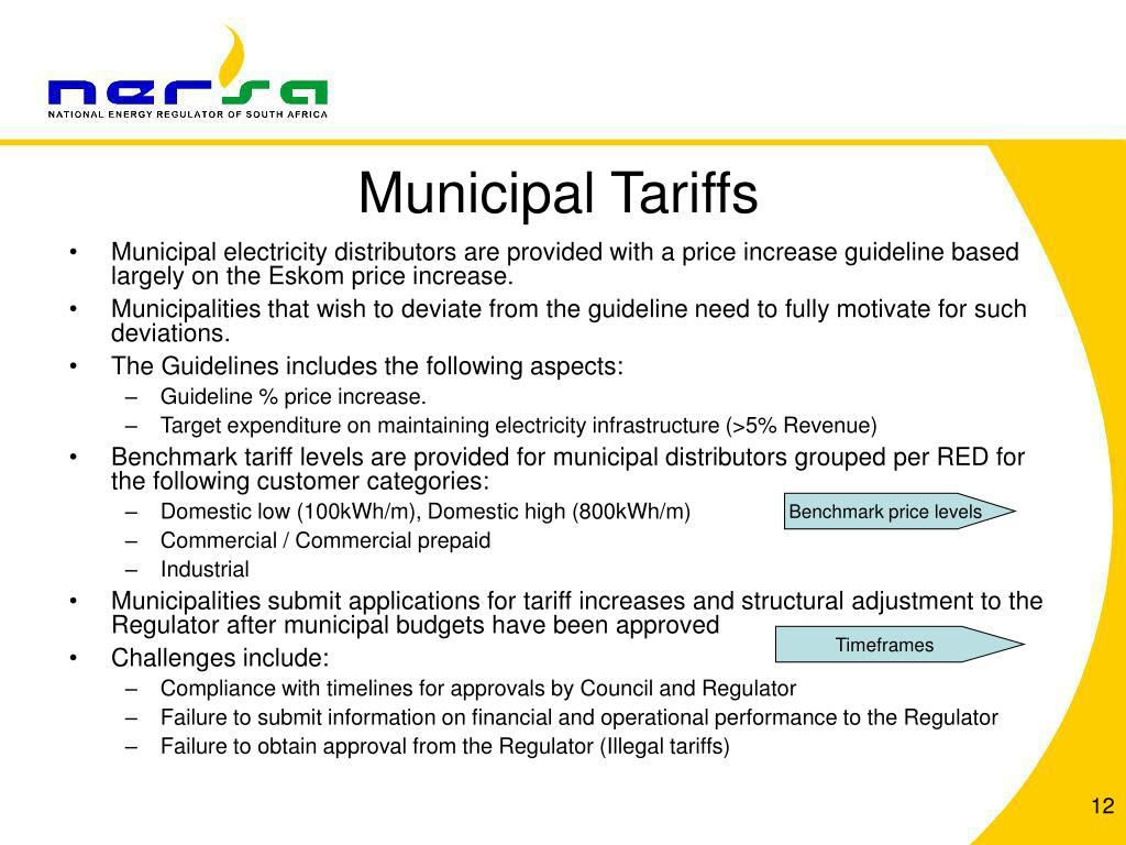 Municipal Tariffs