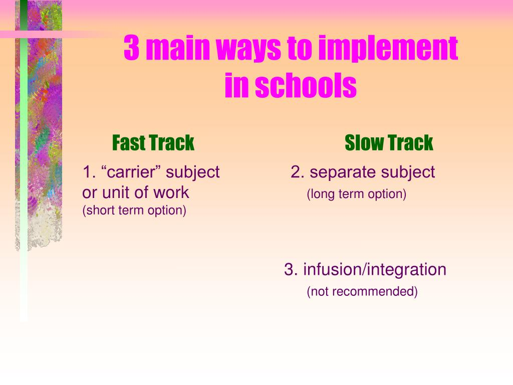 3 main ways to implement