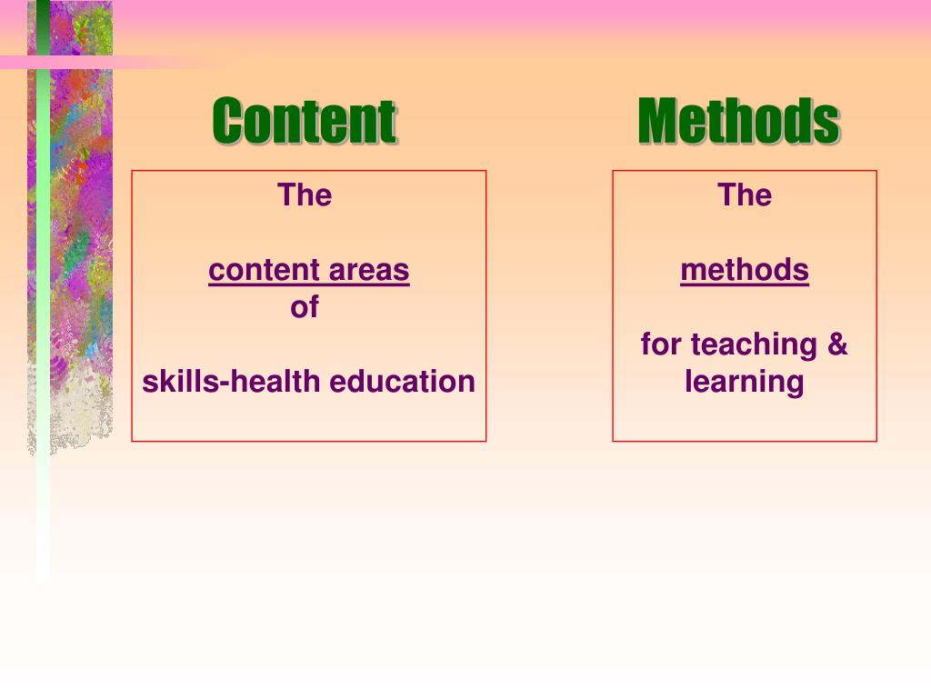 Content     Methods