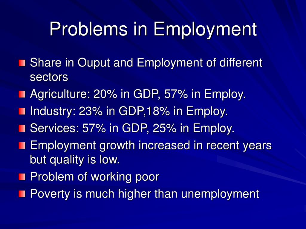Problems in Employment