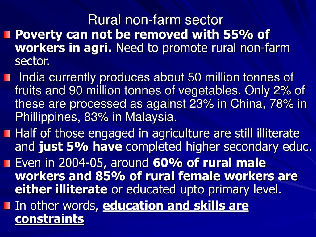 Rural non-farm sector