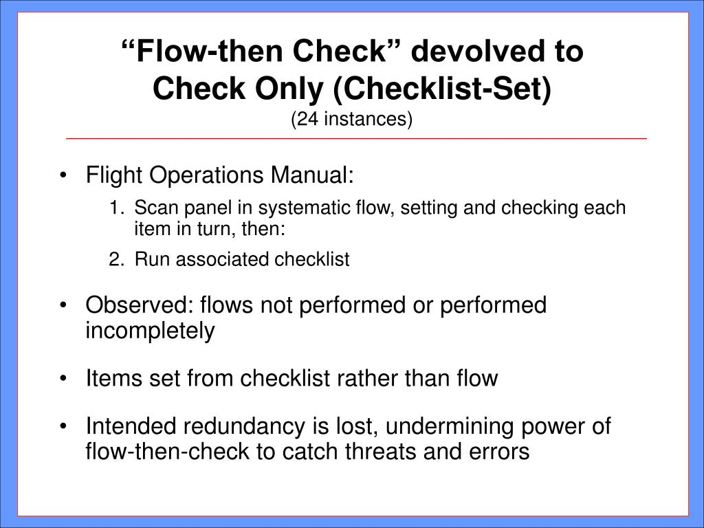 """Flow-then Check"" devolved to"