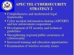 apec tel cybersecurity strategy 2