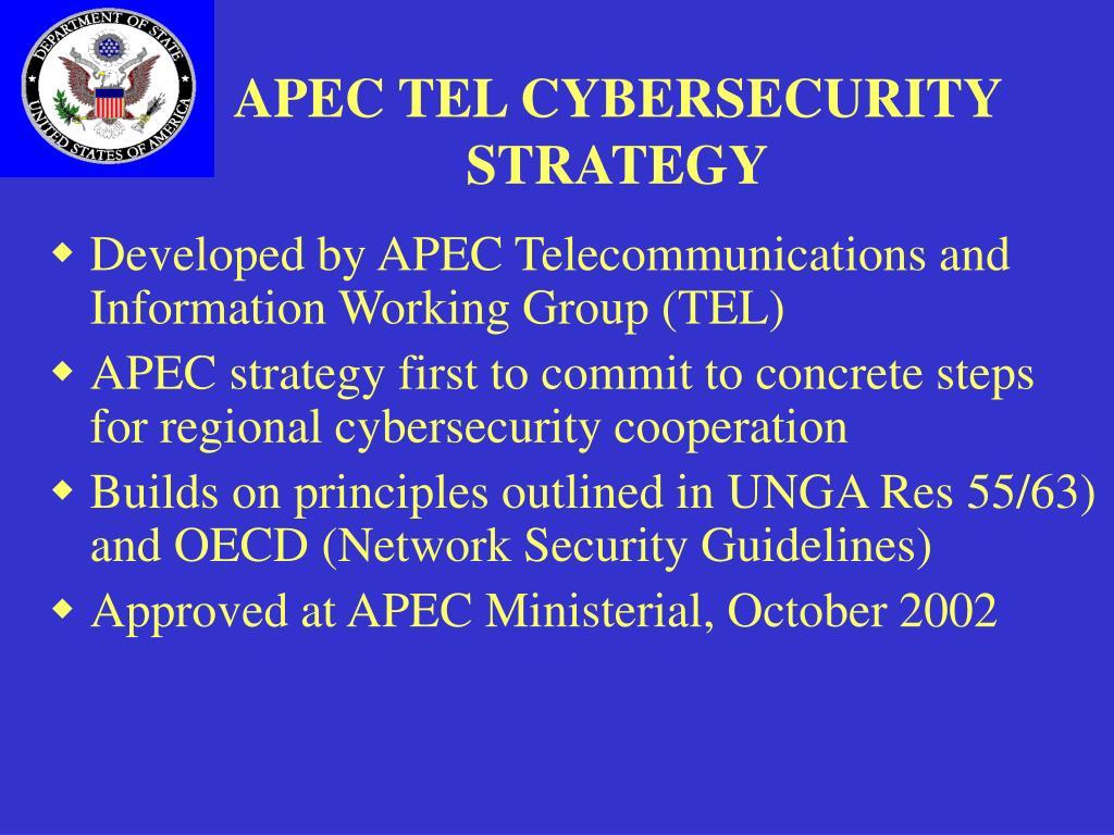 APEC TEL CYBERSECURITY STRATEGY