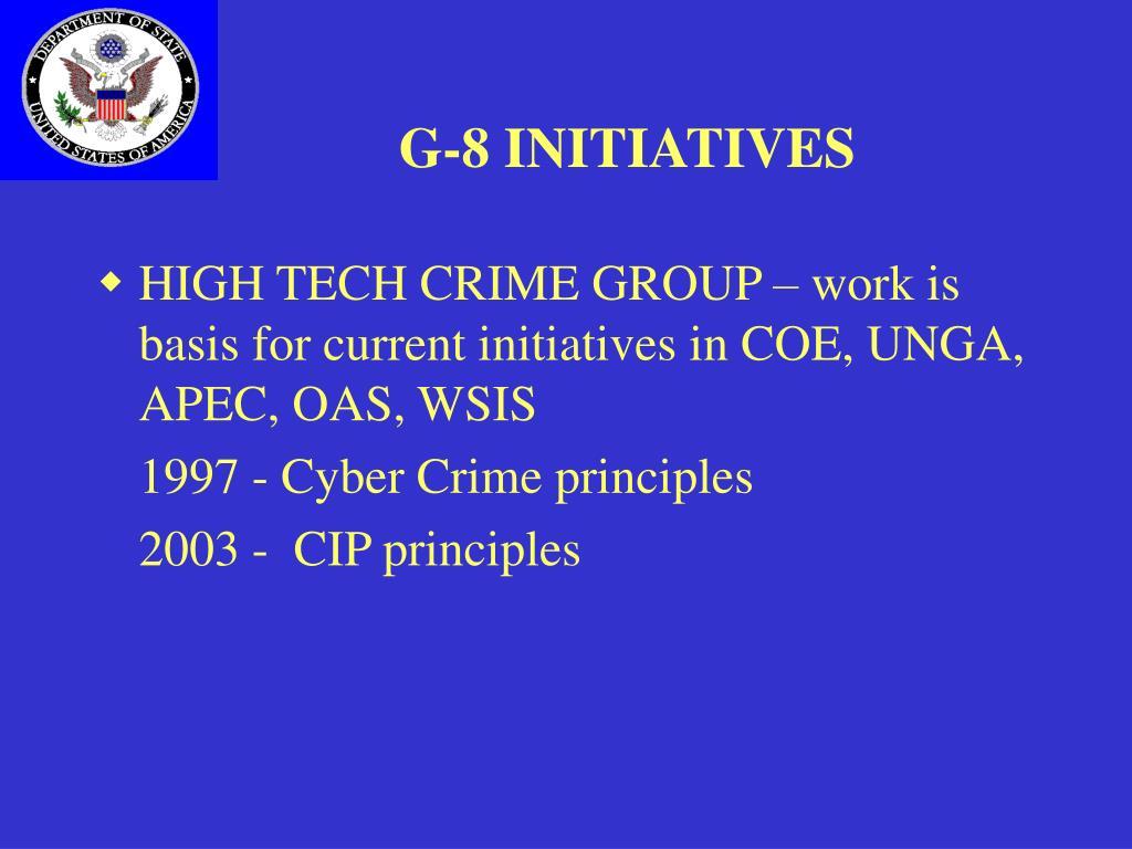 G-8 INITIATIVES