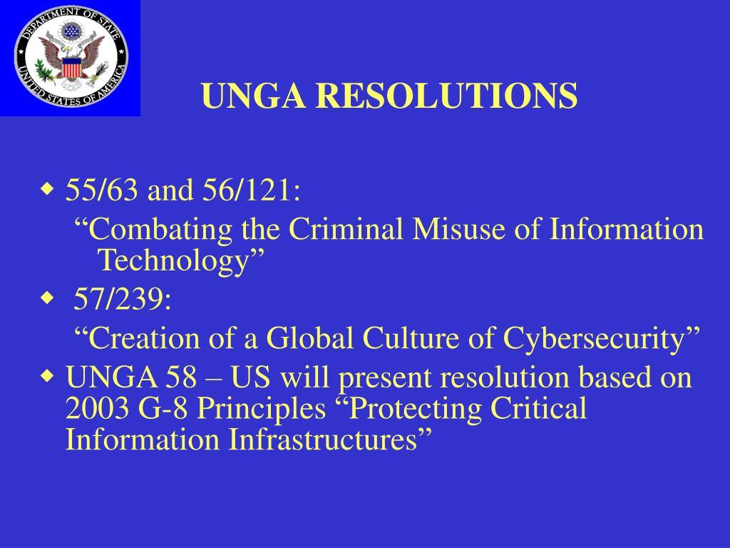 UNGA RESOLUTIONS