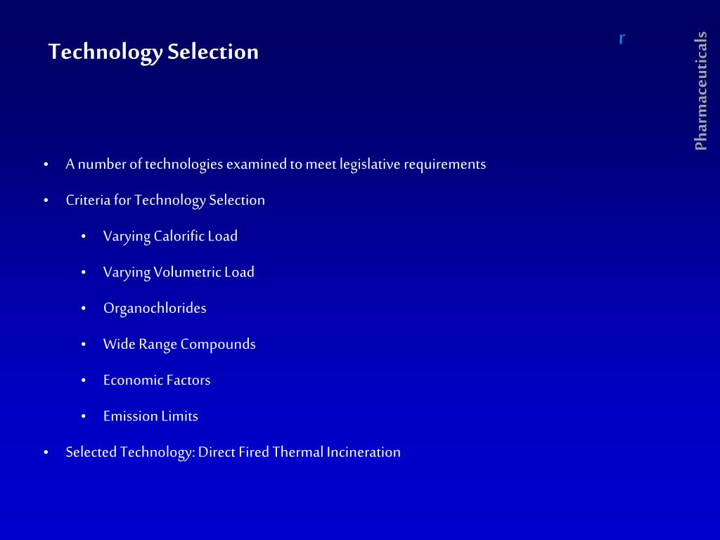 Technology Selection